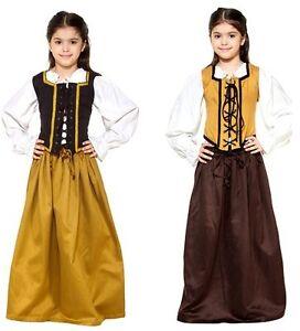 Renaissance Girls Cotton Medieval Skirt