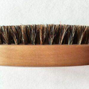 Men Boar Hair Bristle Beard Mustache Brush Military Hard Round Wood Handle Hot