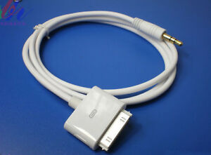 3.3 Ft 30-Pin Dock Connector to 3.5mm Aux-In Audio Plug Cable for Apple iPhone