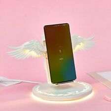 10W Qi Wireless fast Charging Dock Angel Wings phone holder for iPhone Samsung