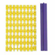 1 Set of Plastic Alphabet Letter Number Cookie Press Stamp Embosser Cutter Mould