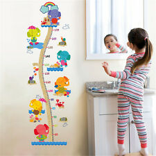 Cartoon Height Elephant Home Decor Removable Wall Stickers Decals Decorations