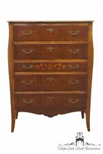 """Antique BERKEY & GAY Country French Louis XVI Floral Marquetry 35"""" Chest"""