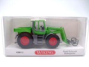 Wiking 038003 Fendt Xylon mit Ballengreifer Traktor Schlepper ca. 1:87