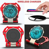 Iron Man Qi Wireless Charger Pad Ladegerät Für iPhone XS X Samsung S7 S8 Note 9