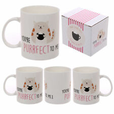 Cat Slogan YOU'RE PURRFECT TO ME Bone China Tea Coffee Soup Mug Home Deco MUG194