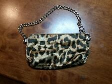 Guess Cheetah Leopard Cosmetic Wristlet Bag