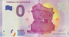BILLET 0  EURO TOMBEAU DE NAPOLEON PARIS  FRANCE  2017 N° PALINDROME 606