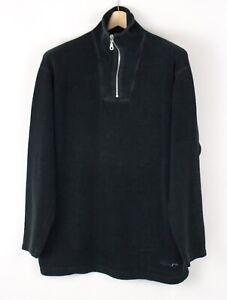 Vintage S. OLIVER Men Zip Neck Fleece Sweater Jumper Top Size M