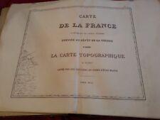 28 Grandes Cartes de la FRANCE Année 1852