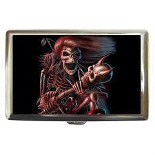 Death Guitar Music Stainless Cigarette Money Card Case Box
