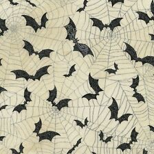 Timeless Treasures Fabric - Wicked - Bats - Cream - 100% Cotton