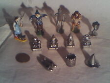 The WIZARD OF OZ MINIATURE BRONZE & PEWTER FIGURES LOT DOROTHY LAND OF OZ RARE!!