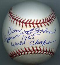 DON Le JOHN Single Signed Baseball 1965 Dodgers  RARE!  PSA/DNA Authenticated
