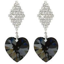 White Gold Diamond Crystal Costume Necklaces & Pendants