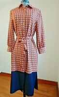 ALEXIA ADMOR Womens Belted Button Down Sheath Dress Long Sleeves Size Small