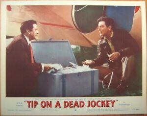 Crime Movie 1957 Lobby Card: Tip on a Dead Jockey w/Robert Taylor & Marcel Dalio