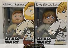 Lot Of 2 - Star Wars Mighty Muggs Obi-Wan Kenobi & Luke Skywalker - BRAND NEW