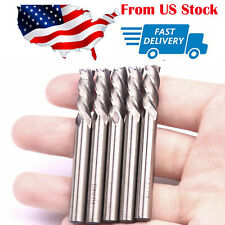 5x Hss 1/4X1/4 Inch End Mill Cutter 4 Flute Cnc Router Bit Cutting Tools