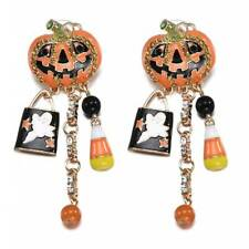 Halloween Pumpkin Ghost Earrings Charm Ear Stud Dangle Drop Earring Jewelry Gift