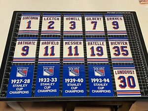 LUNDQVIST New York Rangers Replica Stanley Cup & Retired Numbers Decal Banners