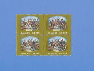 """BRASILIEN 1985 - postfrisch**MNH - MiNr. 2142 = Viererblock """"Gemälde: Aufstand"""""""