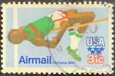 US 1979 - AIR MAIL - OLYMPICS 1980 - HIGH JUMPER - FINE 31c USED STAMP
