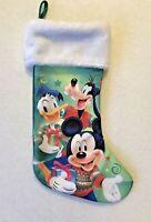 "Disney Christmas Stocking Mickey Mouse Goofy Donald Duck 16"""