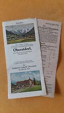 altes Reise Prospekt Parkhotel Luitpold Oberstdorf, Bayer. Alpen 1931 Preisliste