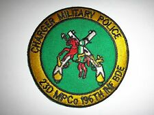 Vietnam War US 23rd CHARGER Military Police Co 196th Infantry Brigade Patch