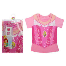 NEW Official Disney Princess pink dress design print t-shirt 2-3yrs