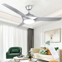 Modern Ceiling Fan 52-in with 3 Colors Dimming LED Lighting&Remote Silent Motor