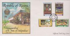 (Ica100) 1983 Nauru Fdc 4set 15th year of independence