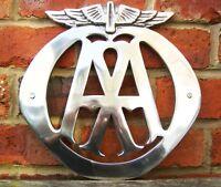 AA sign automobile association sign Garage sign cast aluminium discontinued