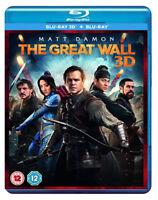 THE GREAT WALL [Blu-ray 3D + 2D] (2017) Matt Damon Movie UK Exclusive 3D Release