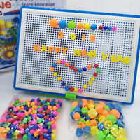 Children Puzzle Peg Board 296 Pegs For Kids Educational Toys Creative Gifts UK