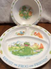 Eden Kermit The Frog Divided Plate And Bowl Set Plastic