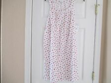 NWT CAROLE HOCHMAN 100% COTTON SLEEVLESS NIGHTGOWN SIZE SMALL RETAIL $55.00