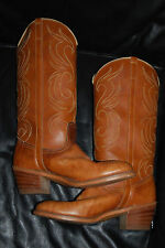 Women's Dingo Medium Tan Mid Calf Leather Cowboy Boots (7.5)