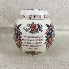 1977 Masons Pottery Ginger Jar Queen Elizabeth Ii British Royalty Collectibles