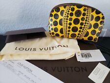 Louis VUITTON Yayoi Kusama PUMPKIN DOT YELLOW cosmetic NEW M47346