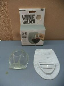 Sipski Plastic Wine Holder w/ Silicone Sticking (Can be Reapplied) Plate NIB