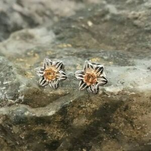 Welsh Clogau Gold Silver & Rose Gold Daffodil Stud Earrings £80 OFF!