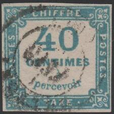 "FRANCE STAMP TIMBRE TAXE N° 7 "" CHIFFRE TAXE 40c BLEU "" OBLITERE RARE  J864"