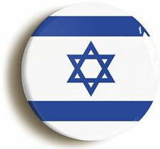 ISRAEL BADGE BUTTON PIN (Size is 1inch/25mm diameter) STAR OF DAVID