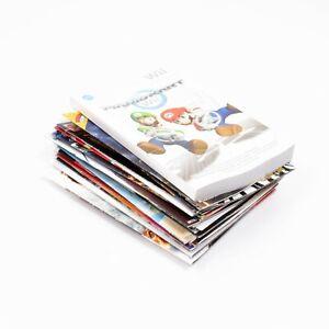 Wii Game Manual BUNDLE - Manuals ONLY - Mario Kart, Super Mario, Sports Resort