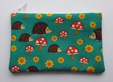 Autumn Hedgehog Mushroom Fabric Handmade Zippy Coin Purse Storage Pouch
