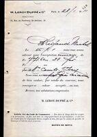 """PARIS (XII°) BANQUE """"LEROY & DUPRE"""" en 1911"""