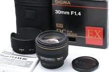 """Exc in BOX"" Sigma DC 30mm f/ 1.4 EX HSM w/ Case For NIKON JAPAN #200649"