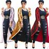 Women Sequin Plus Cardigan Coat Long Sleeve Blouse Outwear Casual Clubwear Party